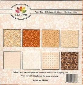 Papiery Dixi 15x15cm Floral Pattern 32ark