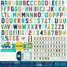 SSC41015 Naklejki 30x30 - alpha - litery / cyfry