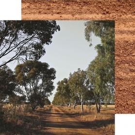 Arkusz 30x30 Kaisercraft P2449 Open road unearth