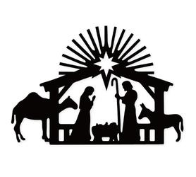 Wykrojnik Szopka Scena Boże Narodzenie (3386-O3)