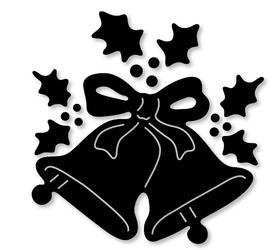 Wykrojnik Dzwonki świąteczne + gałązki (2815-M2)