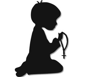 Wykrojnik Chłopiec w modlitwie (2793-C2)