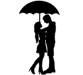 Wykrojnik Para pod parasolką (2158-U3)