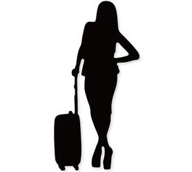 Wykrojnik Kobieta z walizką Podróż (2639-U3)