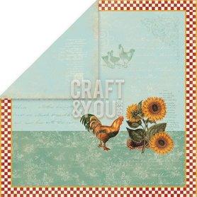 CP-MHG01  Arkusz papieru 30x30cm My Home Garden 01