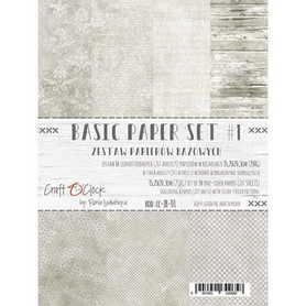 (COC) Zestaw papierów BAZOWYCH - 01 - 15,25x20,3cm
