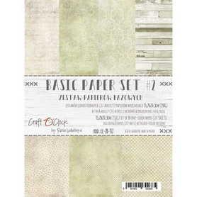 (COC) Zestaw papierów BAZOWYCH - 02 - 15,25x20,3cm