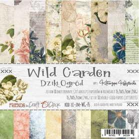 Zestaw papierów 15x15cm - WILD GARDEN