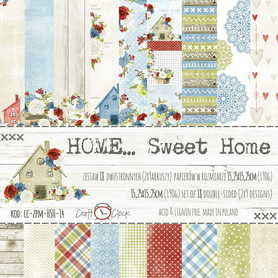 Zestaw papierów 15x15cm - HOME… SWEET HOME