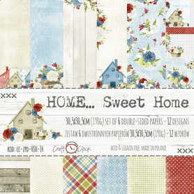 Zestaw papierów 30x30cm - HOME... SWEET HOME
