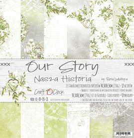 Zestaw papierów 30x30cm - OUR STORY