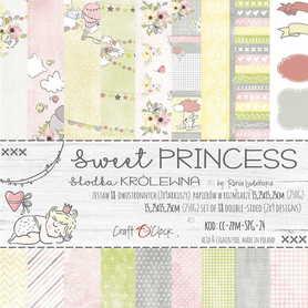 SWEET PRINCESS - zestaw papierów 15,25x15,25cm