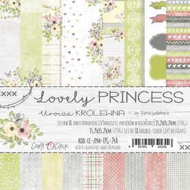 LOVELY PRINCESS - zestaw papierów 15,25x15,25cm