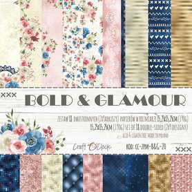 BOLD & GLAMOUR - zestaw papierów 15,25x15,25cm