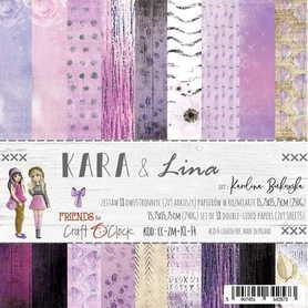 KARA&LINA - zestaw papierów 15,25x15,25cm