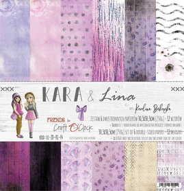 Zestaw papierów 30x30cm - KARA&LINA