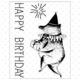 P13 Zestaw stempli Happy Birthday 01, 4szt