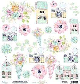 Papier MINTAY 30,5 cm x 30,5 cm LOVELY DAY 09