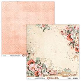 Papier MINTAY 30,5 cm x 30,5 cm Love Letters 01