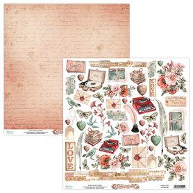 Papier MINTAY 30,5 cm x 30,5 cm Love Letters 09