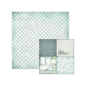 Arkusz papieru 30x30cm Winter frost paper gingham