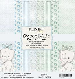 Zestaw 10 papierów 30x30 Reprint Sweet Baby Blue