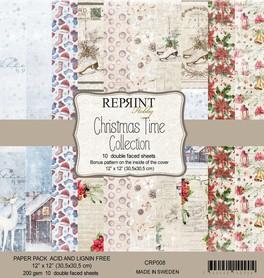 Zestaw 10 papierów 30x30 Reprint Christmas Time