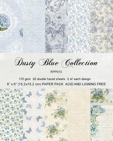 Zestaw 20 papierów 15x15 Reprint Dusty Blue