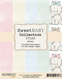 Zestaw 20 papierów 15x15 Reprint Sweet Baby Stars