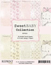 Zestaw 20 papierów 15x15 Reprint Sweet Baby Pink
