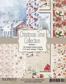 Zestaw 20 papierów 15x15 Reprint Christmas Time