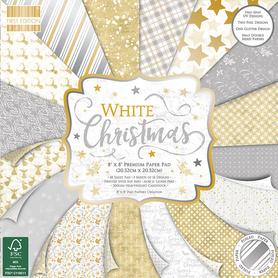 (222X19) Zestaw papierów White Christmas 20x20cm