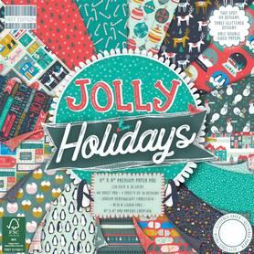 (183X18) Zestaw papierów Jolly Holidays 20x20cm