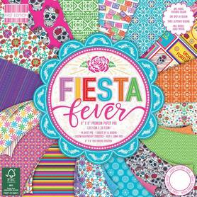 (FEPAD192) Zestaw papierów Fiesta Fever 20x20cm