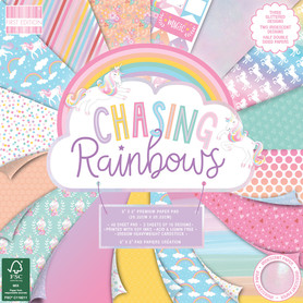 (FEPAD207) Zestaw papierów Chasing Rainbows 20x20cm