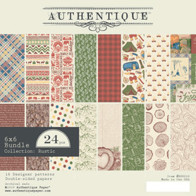 Zestaw papierów Authentique Rustic 15x15 cm