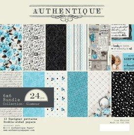 Zestaw papierów Authentique Glamour 15x15 cm
