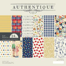 Zestaw papierów Authentique Scholastic 20x20cm