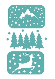 Wykrojnik zimowy Renifer Góry  4 el. (424-M2)