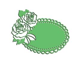 Wykrojnik Ramka owalna z różami (608-W3)