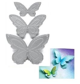 Wykrojnik Trzy motyle z przeczyciami (1249-E3)