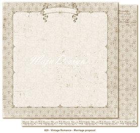 Arkusz 30x30cm Vintage Romance - Marriage proposal