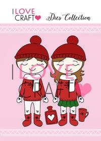 D026 Wykrojnik ILC - Dzieci zimowe