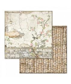 Arkusz 30x30 Stamperia Small Bricks with Tree (678