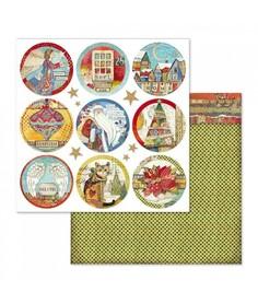Arkusz 30x30 Stamperia Christmas Rounds (SBB637)