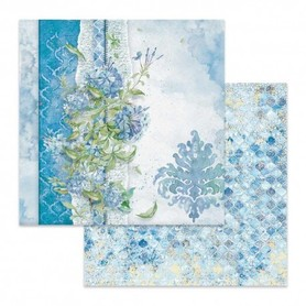 Arkusz 30x30 Stamperia Flowers For You Blue SBB646