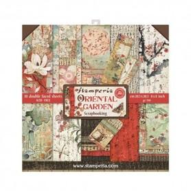 Zestaw papierów 20x20 Stamperia - Oriental Garden - 10 ark