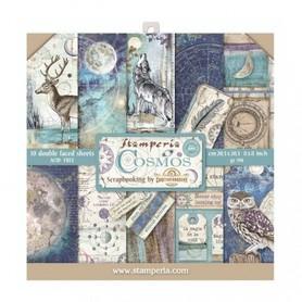Zestaw papierów 20x20 Stamperia - Cosmos 10 ark