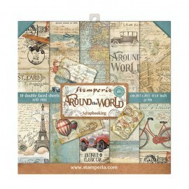 Zestaw papierów 20x20 Stamperia - Around the World 10 ark