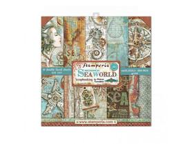 Zestaw papierów 20x20 Stamperia - Sea World 10 ark